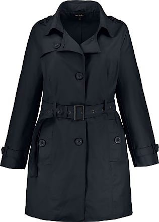Ulla Popken Womens Plus Size Versatile Trench Coat Navy 36/38 727092 70-62+