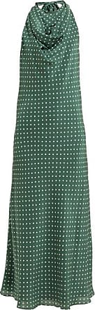 Raey Halterneck Polka-dot Silk Dress - Womens - Green Print