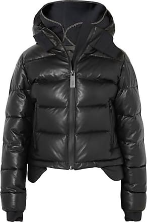 7ed46db3f43 Templa Hooded Tech-jersey And Quilted Leather Down Jacket - Black