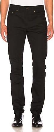 Saint Laurent Low Rise Skinny Jeans in Black