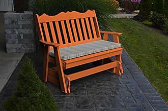 A & L Furniture A & L Furniture Poly Royal English Glider Bench, 5, Orange