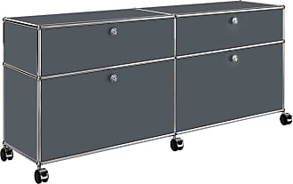 USM Haller Rollcontainer 102x37x60,5cm - anthrazitgrau RAL 7016