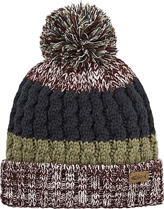 Weird Fish Mens Gomez Twist Cable Beanie NO Size Pinot Wine