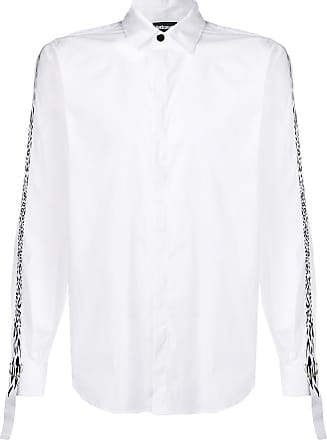 Just Cavalli leopard print contrast fitted shirt - Branco