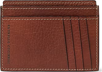 Brunello Cucinelli Full-grain Leather Cardholder - Brown