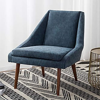 New Pacific Direct 1900102-268 Enzo PU Leather Lounge Accent Chairs, Blue