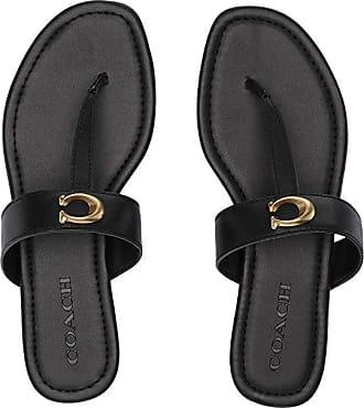 576e8c2c8 Coach Jessie Thong Sandal with Signature Buckle (Black Leather) Womens  Sandals