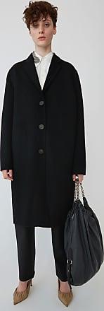 Acne Studios Avalon Double Black Masculine tailored long coat