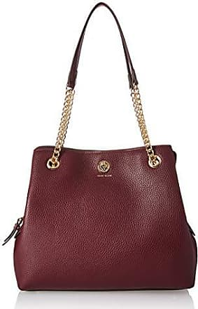 Anne Klein Chain Toggle 4 Post Handbag Oxblood