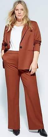 Violeta by Mango Pleat straight trousers