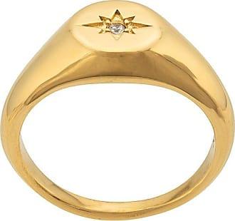 Nialaya engraved star ring - GOLD