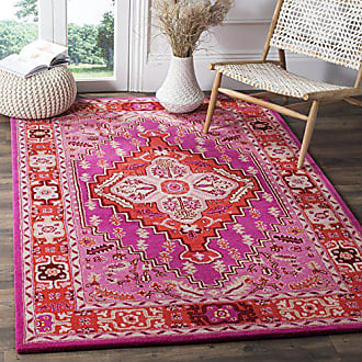 Safavieh Bellagio Collection BLG545A Red Pink and Ivory Bohemian Medallion Area Rug (8 x 10)