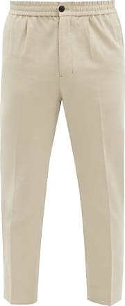 Ami Ami - Cropped Cotton-twill Chinos - Mens - Beige