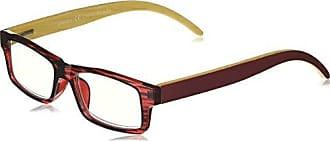 Peepers Unisex-Adult Sierra 2365100 Rectangular Reading Glasses, Burgundy, 1
