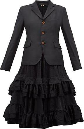 Comme Des Garçons Comme Des Garçons Comme Des Garçons - Tiered Ruffle-skirt Twill Blazer - Womens - Black