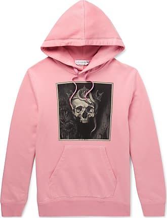 Alexander McQueen Printed Loopback Cotton-jersey Hoodie - Pink