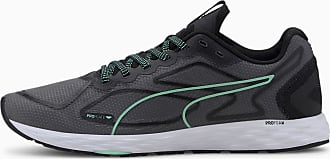 Puma Speed 300 Racer 2 Womens Running Shoes, Black/Green Glimmer/White, size 3.5, Shoes