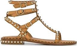 Ash Spielen Sie goldbesetzte Sandalen aus nacktem Leder - 3/36