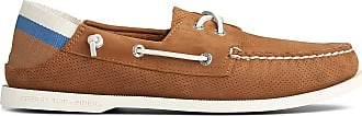 Sperry Top-Sider Mens A/O E-Eye Leather Kick Down, 6.5 UK, Tan