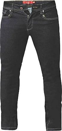 Duke London Duke Mens Cedric King Size Tapered Fit Stretch Jeans (42R) (Indigo)