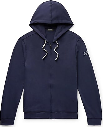 Ermenegildo Zegna Loopback Stretch-cotton Jersey Zip-up Hoodie - Navy