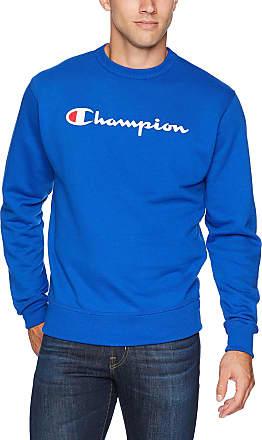 Champion Mens Graphic Powerblend Fleece Crew Sweatshirt, Surf The Web Script, XXL