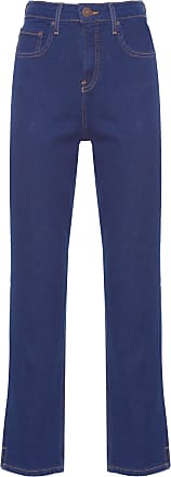 Calvin Klein Calça Jeans Five Pockets High Rise Straight - Azul