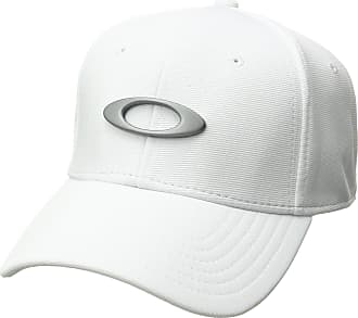 Oakley Mens TINCAN Cap Hat, White/Grey, X-Large