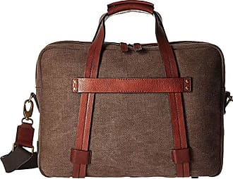 f8bbd6044 Bosca Washed Leather Collection - Zip Top Brief (Brown/Dark Brown)  Briefcase Bags