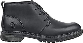 Timberland Mens Logan Bay Chukka Boot, Black Full Grain Leather, 10.5 Medium US