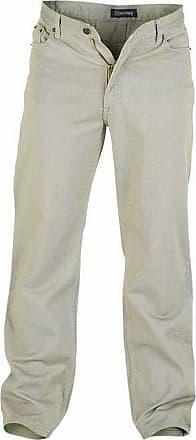 Duke London Duke Mens Rockford Kingsize Comfort Fit Jeans (42R) (Stone)