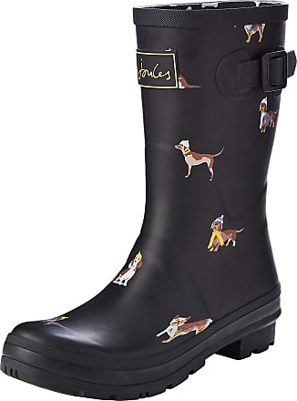 Joules Womens Molly Welly Wellington Boots, Black (Black Dogs Black Dogs), 7 UK (40/41 EU)