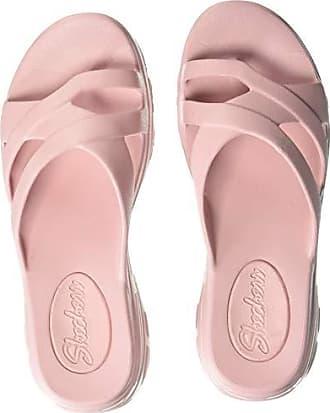 Skechers Womens Aqua DLites-Molded Toe-Loop Slide Flip-Flop, Pink, 8 M US