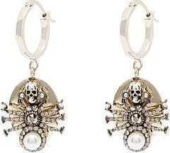Alexander McQueen Alexander Mcqueen - Spider Crystal Drop Earrings - Womens - Gold