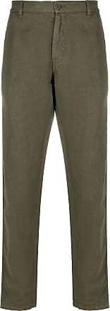 Aspesi Calça de linho reta - Verde