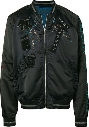 Diesel reversible embroidered bomber jacket - Black