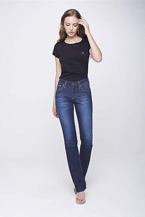 Damyller Calça Jeans Reta com Detalhes nos Bolsos Tam: 36 / Cor: BLUE