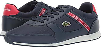Lacoste Mens MENERVA Sneaker Navy/red 10 Medium US
