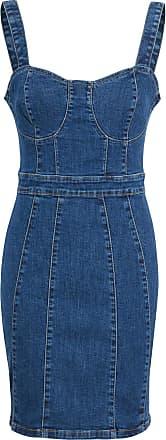 Shelikes Womens Denim Dress Ladies Cupped Blue Denim Mini Bodycon Dress Size[Blue, UK 10]