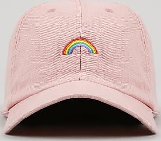 C&A Boné Pride Aba Curva com Bordado Arco-Íris Rosê