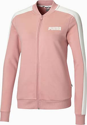 Puma Contrast Full Zip Womens Sweat Jacket, Bridal Rose, size X Large, Clothing