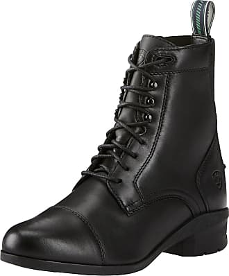 Ariat Womens Heritage IV Paddock Boots in Black Leather, B Medium Width, Size 3.5, by Ariat