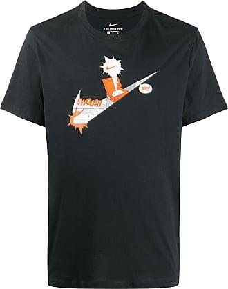 Nike T-Shirt mit Logo-Print - Schwarz