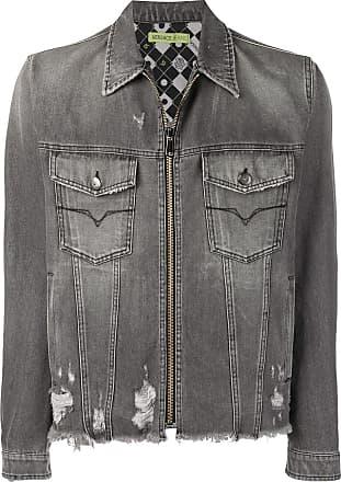 Versace Jeans Couture zipped denim jacket - Cinza