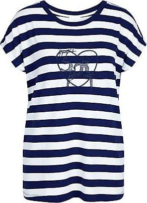 Sportalm Locker designtes T-Shirt im Streifenlook und Applikation Größe:34