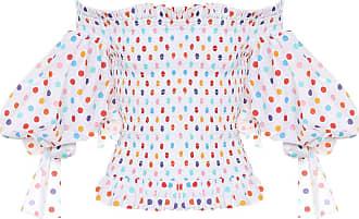 Caroline Constas Coco polka-dot stretch-cotton blouse