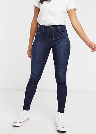 Hollister Hourglass skinny jeans in dark wash blue