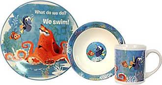 Disney 3 Piece Finding Dory Ceramic Dinnerware Set, Multicolor
