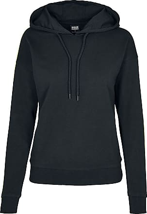 Urban Classics Ladies Neon Shoulder Stripe Hoody - Kapuzenpullover - schwarz, lime