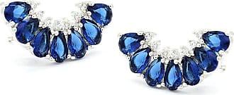 Royalz Brinco Royalz Semi Joia Prateado Ear Cuff Milena Azul